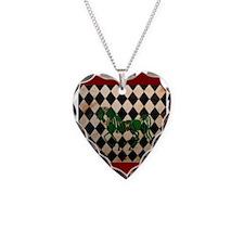 Checkerboard Horse Necklace