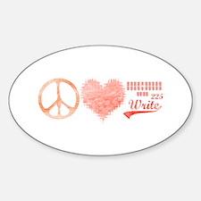 Cute School themed Sticker (Oval)