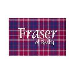 Tartan - Fraser of Reelig Rectangle Magnet (10 pac