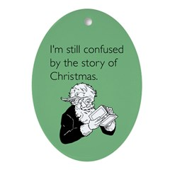 Story of Christmas Ornament (Oval)