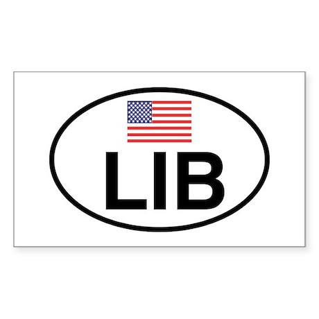 Liberal Rectangle Sticker