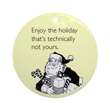 Enjoy the Holiday Ornament (Round)