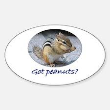 Got Peanuts? Oval Decal