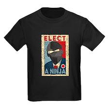 Elect A Ninja, Funny Kids Tee