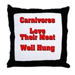 The Carnivore's Throw Pillow