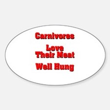 The Carnivore's Oval Decal