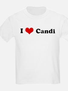 I Love Candi Kids T-Shirt