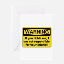 Warning Tickle Me Greeting Card