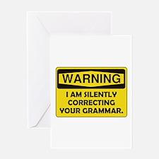 Warning Grammar Greeting Card