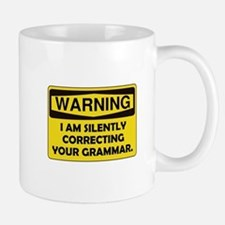 Warning Grammar Mug