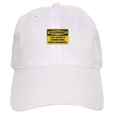 Warning Grammar Baseball Cap