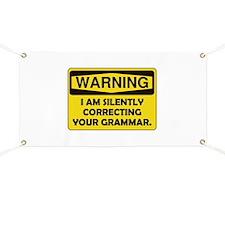 Warning Grammar Banner