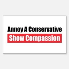 Show Compassion Rectangle Decal