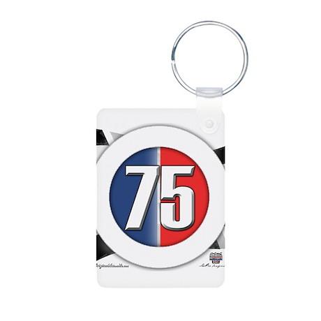 75 Cars Logo Aluminum Photo Keychain