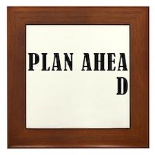 Plan Ahead Framed Tile