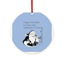 Jew Who Celebrates Christmas Ornament (Round)