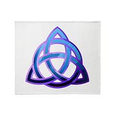 Unique Trinity knots Throw Blanket