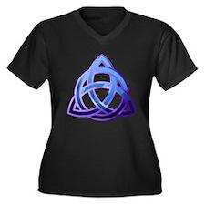 Unique Knots Women's Plus Size V-Neck Dark T-Shirt