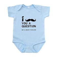 Mustache Question Infant Bodysuit