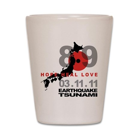 Japan Earthquake & Tsunami Shot Glass