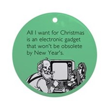 Obsolete Electronic Gadget Ornament (Round)