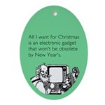 Obsolete Electronic Gadget Ornament (Oval)