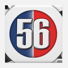 56 Cars logo Tile Coaster