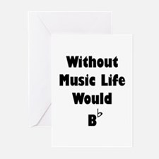 Music B Flat Greeting Cards (Pk of 20)