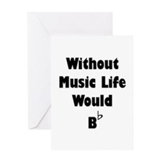 Music B Flat Greeting Card