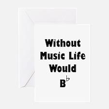 Music B Flat Greeting Card