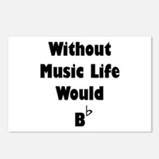 Music B Flat Postcards (Package of 8)