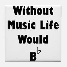 Music B Flat Tile Coaster