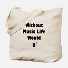 Music B Flat Tote Bag