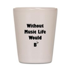 Music B Flat Shot Glass