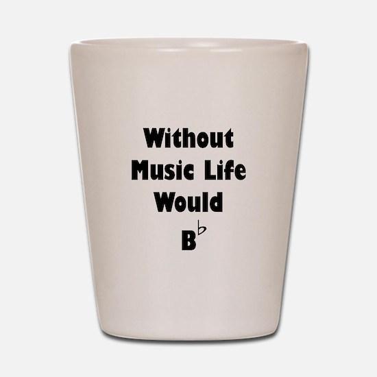 Music B Flat Shot Glass