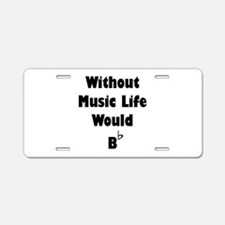 Music B Flat Aluminum License Plate