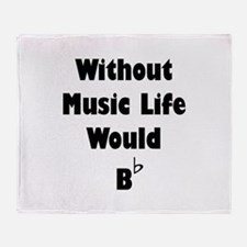 Music B Flat Throw Blanket