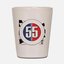55 Cars Logo Shot Glass