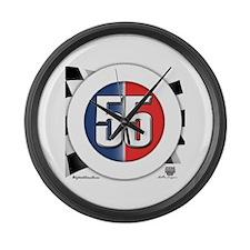 55 Cars Logo Large Wall Clock