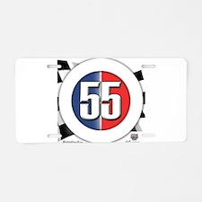 55 Cars Logo Aluminum License Plate