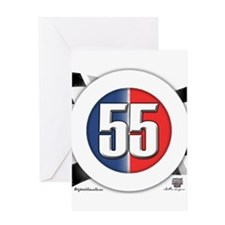 55 Cars Logo Greeting Card