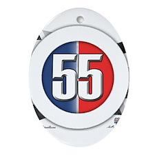 55 Cars Logo Ornament (Oval)