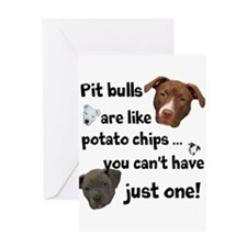 Pit Buls Greeting Card
