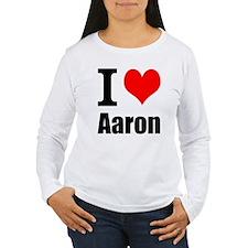 I Heart Aaron Long Sleeve T-Shirt