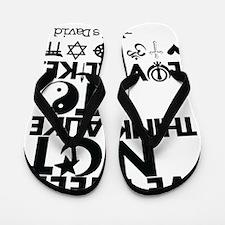 Cute Healing religion beliefs peace Flip Flops