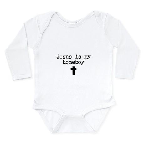 Jesus is my Homeboy Long Sleeve Infant Bodysuit
