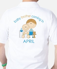 Baby Bro Due April T-Shirt