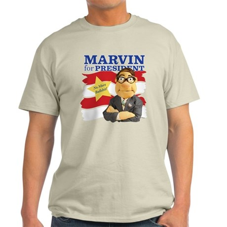 Marvin for President Light T-Shirt