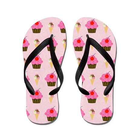 Cupcake and Ice Cream Cone Flip Flops