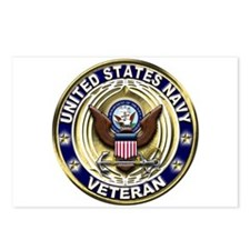 USN Blue and Gold Veteran Postcards (Package of 8)